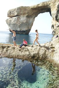 Malta Azure Window on Gozo's Dwejra coast and reflections in the Blue Grotto ed