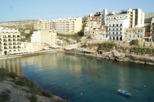 Malta stunning view of the Xlendi seaside resort in Gozo ed